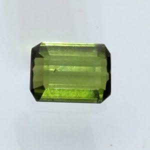 Yellow Green Tourmaline Faceted 6.9 x 5.1 mm Rectangle Natural Gem 1.02 carat