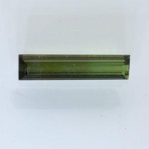 Green Tsavorite Tourmaline Faceted Rectangle 17.2 x 4 mm Natural Gem 2.22 carat