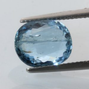 Aquamarine Green Blue Beryl Faceted Oval 11.5x9.4mm Heat Only I2 Gem 3.86 carat