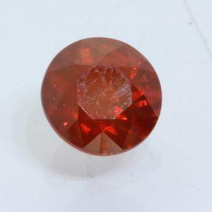 Red Orange Zircon Cambodia Faceted 7.6 mm round SI2 Natural Gemstone 2.73 carat