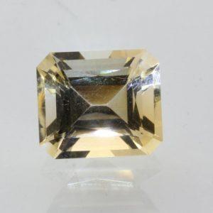 Citrine Yellow Burma Quartz Precision 10.5x9mm Octagon VVS Eye Clean 4.11 carat