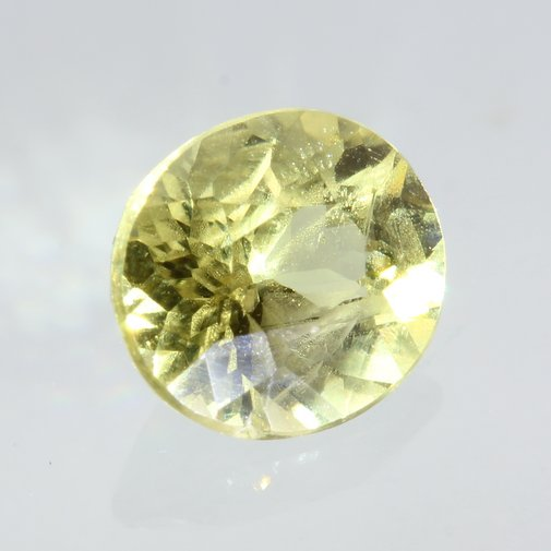 Light Yellow Mali Garnet Faceted Oval 5.0 x 4.5 mm Untreated Gemstone .45 carat