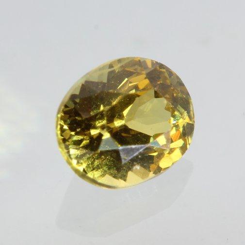 Bright Yellow Mali Garnet Faceted Oval 5.3 x 4.4 mm Untreated Gemstone .56 carat