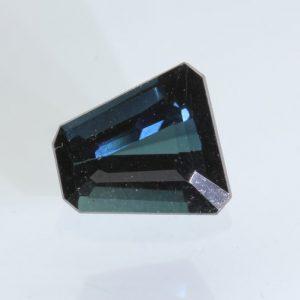 Blue Indicolite Tourmaline 6.3 x 5.8 mm Trapezium Square Untreated Gem .41 carat