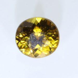 Bright Yellow Mali Garnet Faceted Oval 5.3 x 5.0 mm Untreated Gemstone .70 carat