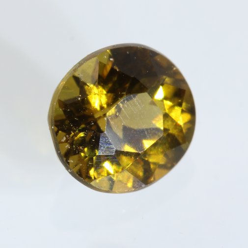 Bright Yellow Mali Garnet Faceted Oval 5.3 x 5.0 mm Untreated Gemstone .70 carat