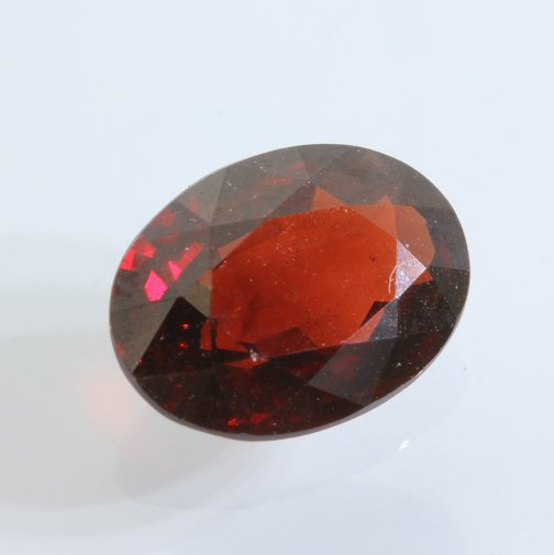 Almandine Dark Red Garnet Faceted 9.1x6.8 mm Oval Untreated Gemstone 1.97 carat