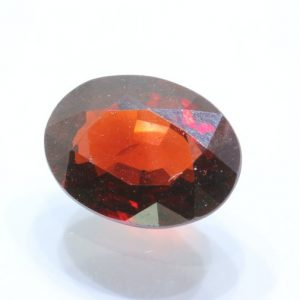 Almandine Dark Red Garnet Faceted 9.1x6.8 mm Oval Untreated Gemstone 1.97 carat