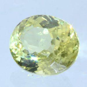 Bright Yellow Mali Garnet Faceted Oval 7.4 x 6 mm Untreated Gemstone 1.43 carat