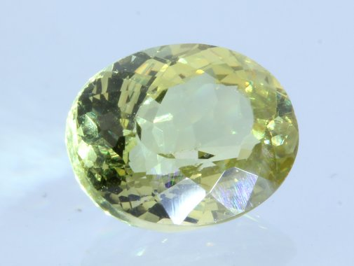 Bright Yellow Mali Garnet Faceted Oval 7.4 x 6 mm Untreated Gemstone 1.43 carat