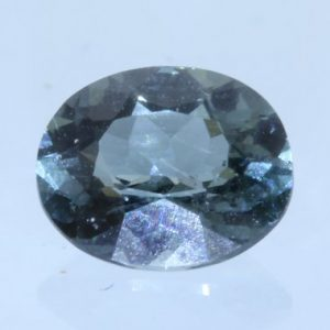 Blue Green Indicolite Tourmaline Faceted 5.7x4.8 mm Oval Untreated Gem .61 carat