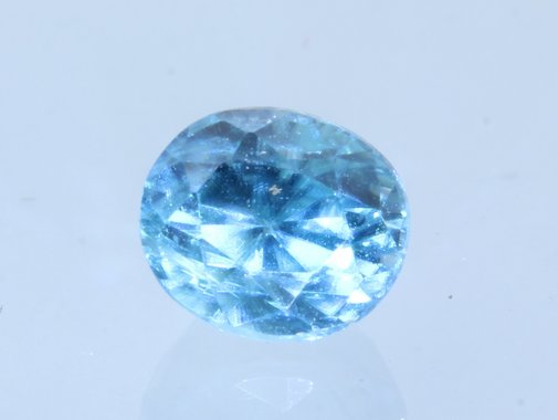Sky Blue Zircon Sparkling Natural Oval Faceted 5x4.3 mm Cambodian Gem .89 carat