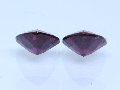 Pair Red Purple Rhodolite Garnet 5.5mm Reuleaux Triangle Untreated Gem 1.28carat