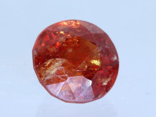 Sparkling Orange Hessonite Garnet Faceted 7.5x7.5 mm Round Gemstone 2.28 carat