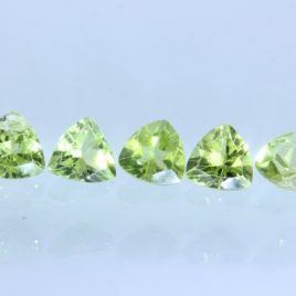 One Yellow Green Peridot VS Gem Faceted 5mm Reuleaux Triangle Average .47 carat