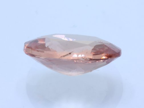 Pinkish Peach Tourmaline Faceted Oval 5.6 x 4.5 mm Untreated Gemstone .43 carat