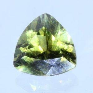 Yellow Green Tourmaline 6.9x5.1mm Triliun Reuleaux Triangle Untreated 1.02 carat