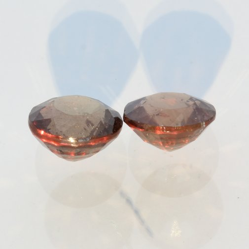 Pair Color Change Shift Garnet Brown Green Red Rounds Untreated 2.34 carat total