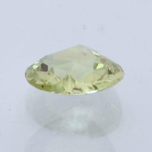 Golden Yellow Green Mali Garnet Faceted Heart 7.2 mm Untreated Gem .97 carat