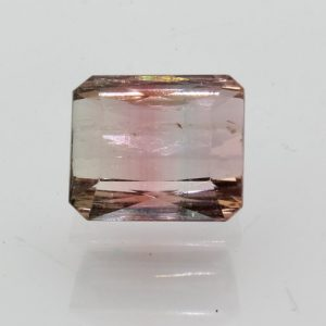 Tourmaline Pink Blue Bi-color Gem 10.6x9 Faceted Cushion VS Clarity 5.29 carat