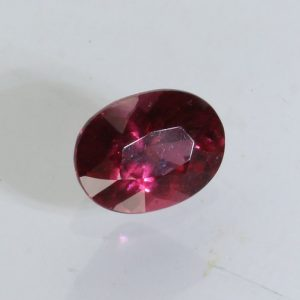 Rhodolite Garnet Raspberry Red Purple Precision Faceted 8x6 mm Oval 1.58 carat