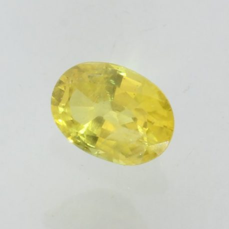 Lemon Yellow Sapphire 7x5 Faceted Oval Be Enhanced Natural Africa Gem 1.00 carat