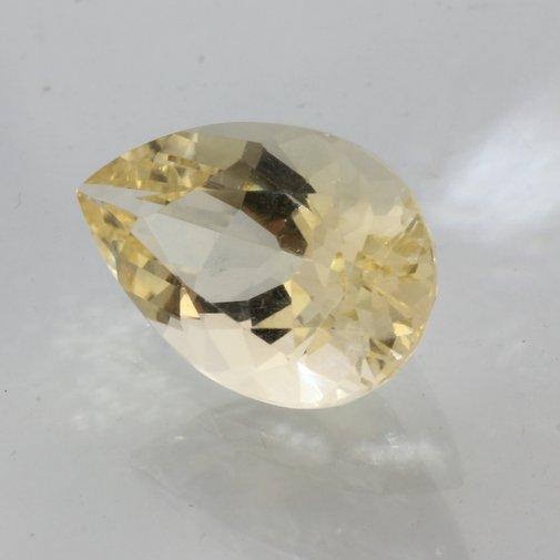 Citrine Burma Gem Natural Yellow Quartz Precision VS Pear 15x10 mm 5.09 carat