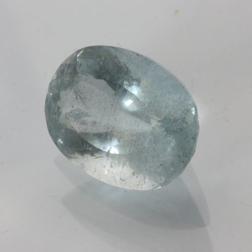 Aquamarine Large Light Blue Beryl Oval 18x13 mm Heat Only I1 Clarity 13.36 carat