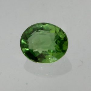 Chrome Tourmaline VS Gemstone Tsavorite color Faceted 4.5x3.8 mm Oval .31 carat