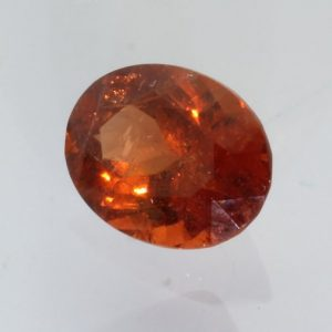 Spessartite Red Orange Garnet SI2 Gem Precision Faceted 8x6 mm Oval 1.83 carat