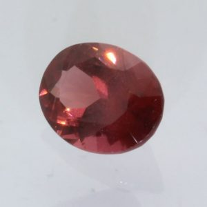 Pink Orange Padparadscha Garnet Gem Precision Faceted 7.4x5.2 mm Oval 1.25 carat