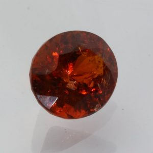 Red Orange Spessartite Garnet Precision Faceted Oval I1 Clarity Gem 4.73 carat
