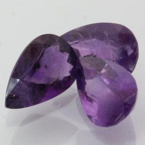 Amethyst One Purple 11x7 mm Pear Burma Quartz I1 Gemstone Average 1.88 carat