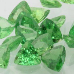 Tsavorite One Green Garnet Faceted 4.2 mm Trillion Gemstone Average .22 carat