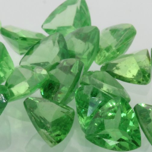 Tsavorite One Green Garnet Faceted 4.2 mm Trillion Gemstone Average .22 carat