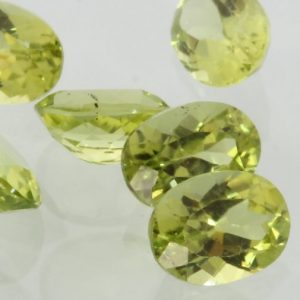 Peridot One Lettuce Yellow Green 6x4 mm Faceted Oval VS Gem Averages .53 carat