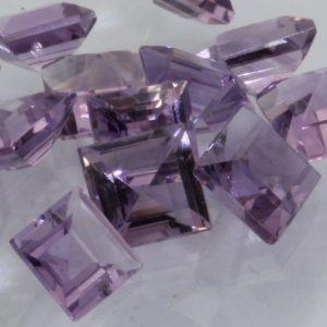 Light Purple Amethyst One 5 mm Princess Cut Square Gemstone Average .62 carat