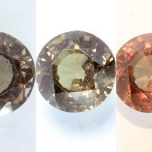 Color Change Garnet Orange Green Copper Round 6.5x6.5 mm African Gem 1.08 Carat
