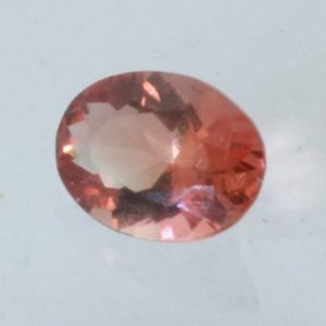 Sunstone Oregon Copper Bearing Red Precision Faceted 6x4.5mm Oval Cut .48 carat