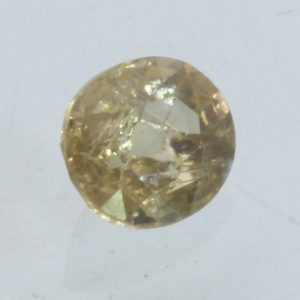 Zircon Light Yellow Brown Cambodia Faceted 7x6 mm Oval VS Natural Gem 1.43 carat