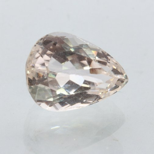 Kunzite Sparkling White Faceted Pear Shape 14x10 mm Natural Gemstone 8.48 carat