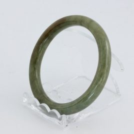 Bangle Bracelet Jade Round Cut Burma Jadeite Natural Stone 55.7 mm 6.9 inch