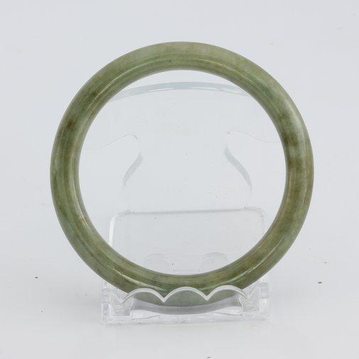 Bangle Bracelet Jade Round Cut Burma Jadeite Natural Stone 55.7 mm 6.9 inch