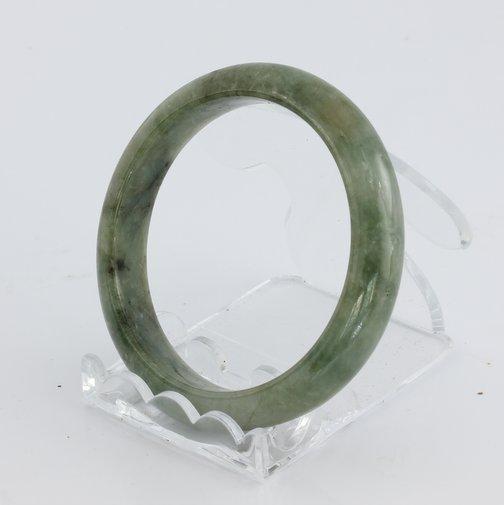 Bangle Bracelet Jade Comfort Cut Burma Jadeite Natural Stone 52.2 mm 6.45 inch