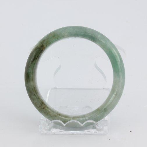 Bangle Bracelet Jade Comfort Cut Burma Jadeite Natural Stone 51.8 mm 6.4 inch