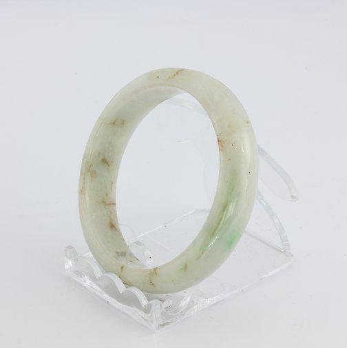 Bangle Bracelet Jade Comfort Cut Burma Jadeite Natural Stone 54.1 mm 6.7 inch