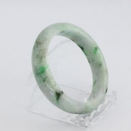 Bangle Bracelet Jade Comfort Cut Burma Jadeite Natural Stone 56.3 mm 7.0 inch