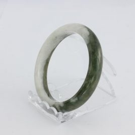 Bangle Bracelet Jade Comfort Cut Burma Jadeite Natural Stone 55.2 mm 6.8 inch