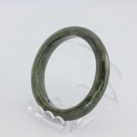 Bangle Bracelet Jade Comfort Cut Burma Jadeite Natural Stone 54.7 mm 6.8 inch