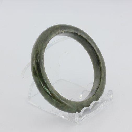 Bangle Bracelet Jade Comfort Cut Burma Jadeite Natural Stone 54.7 mm 6.8 inch